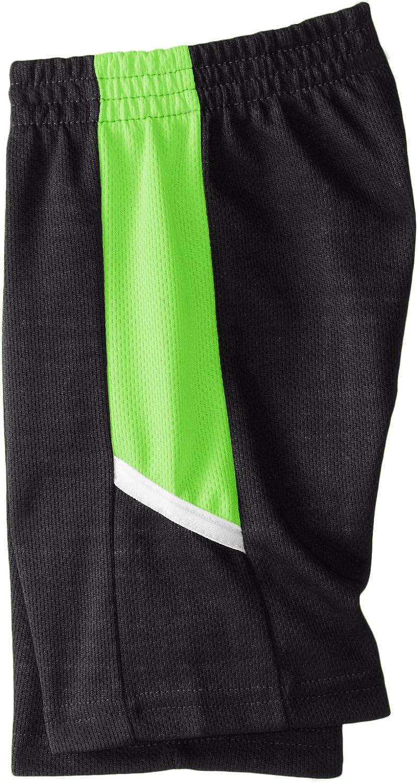 5//6 White//Neon Lime//Black and Short Tank STX Little Boys 3 Piece Performance T-Shirt