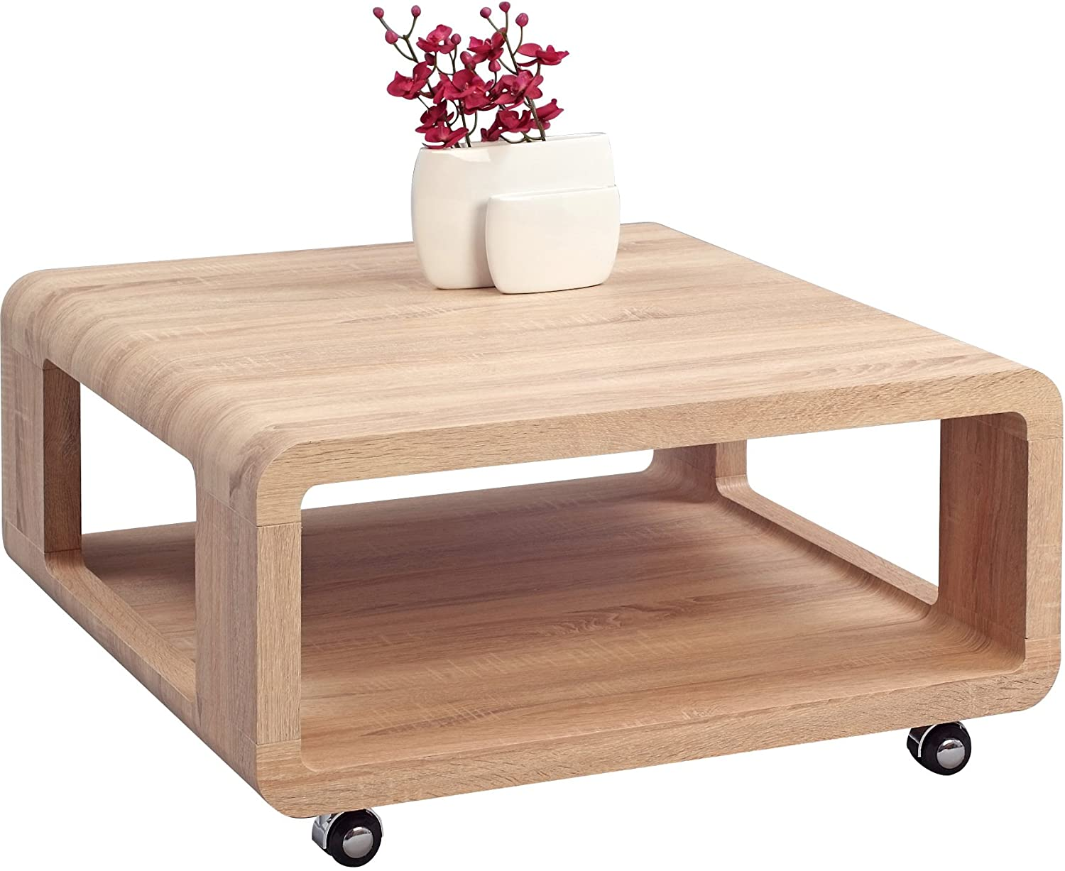 hometrends4you 217942 coffee table 80 x 40 x 80 cm sonoma oak