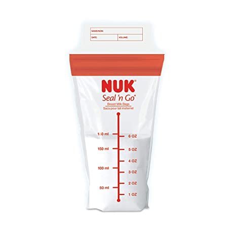 NUK Simply Natural Seal n Go Breast Milk Bags, 50CT