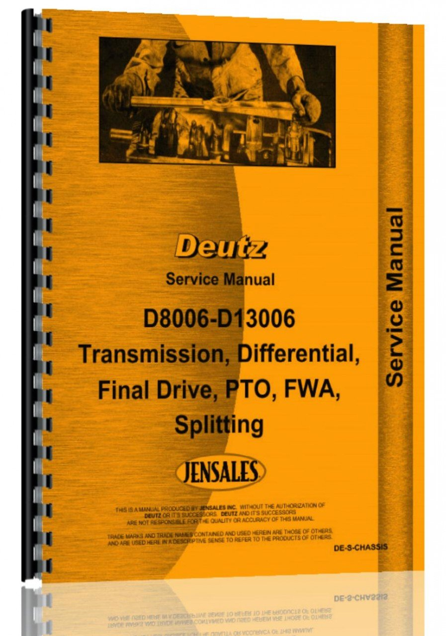 Deutz (Allis) D13006 Tractor embrague Servicio Manual: Jensales Ag Products: Amazon.es: Amazon.es