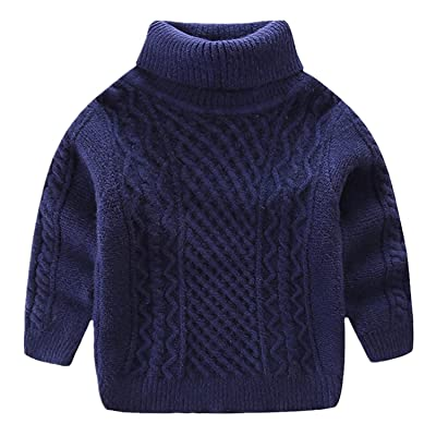 Baby Girls Boys Long Sleeves Cable-Knit Winter Christmas Pullover Sweaters
