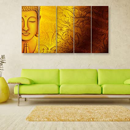 Inephos Multiple Frames Beautiful Buddha Wall Painting for Living ...