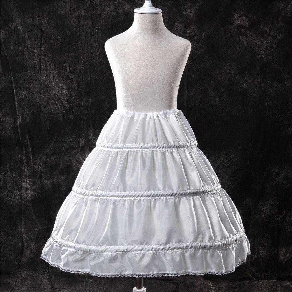 Longble 3 Hoop Kinder Reifrock Petticoat Wei Ss F Ur Klein M Adchen