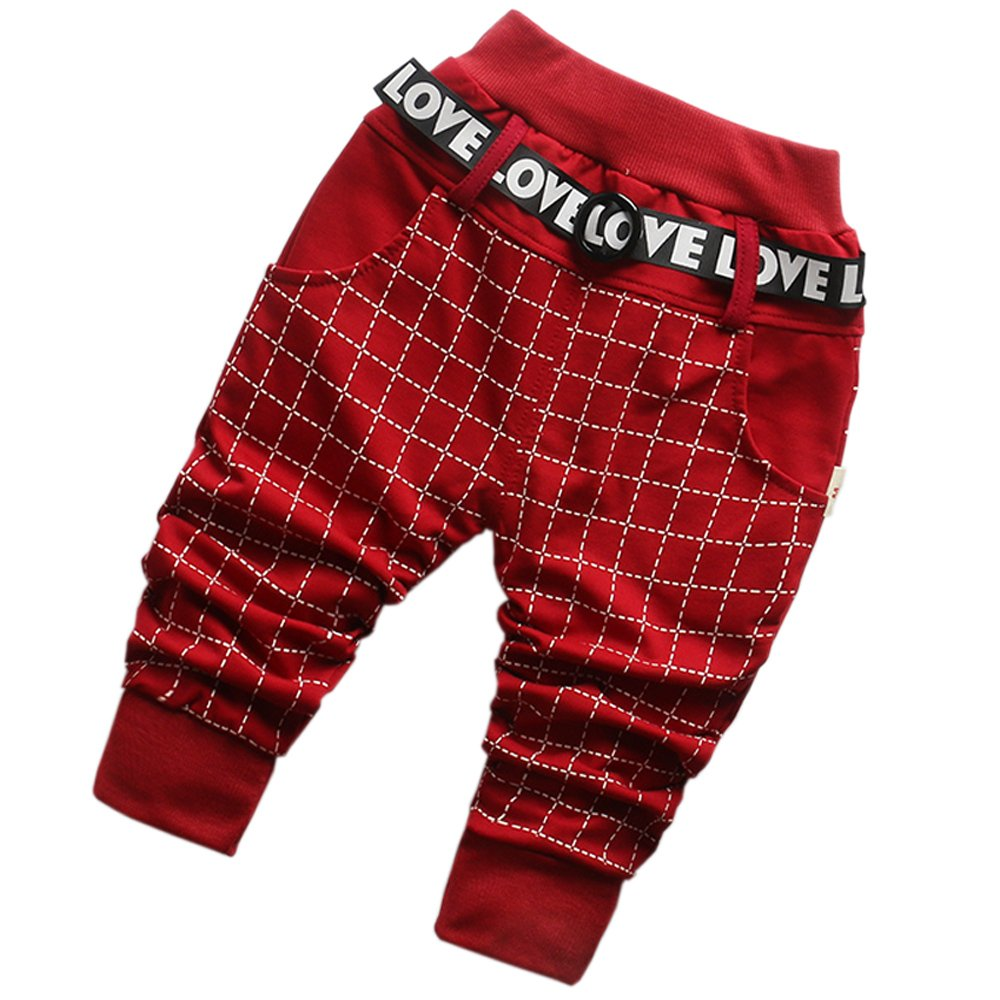 DIIMUU Baby Boy Clothes Cotton Clothing Long Pants Trousers