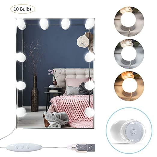 Amazon.com: LED Vanity Mirror Lights, Benbilry Hollywood ...