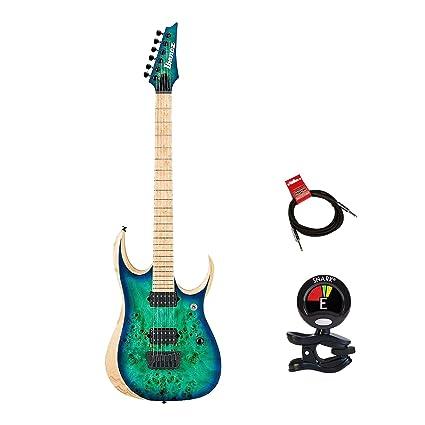 Ibanez rgdix6mpb-sbb hierro etiqueta RGD Series Guitarra eléctrica paquete en surrealista azul Burst con