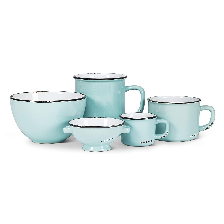 Green 27-ENAMEL//CAP GRN Abbott Collection Enamel Look Stoneware Cappuccino Cup