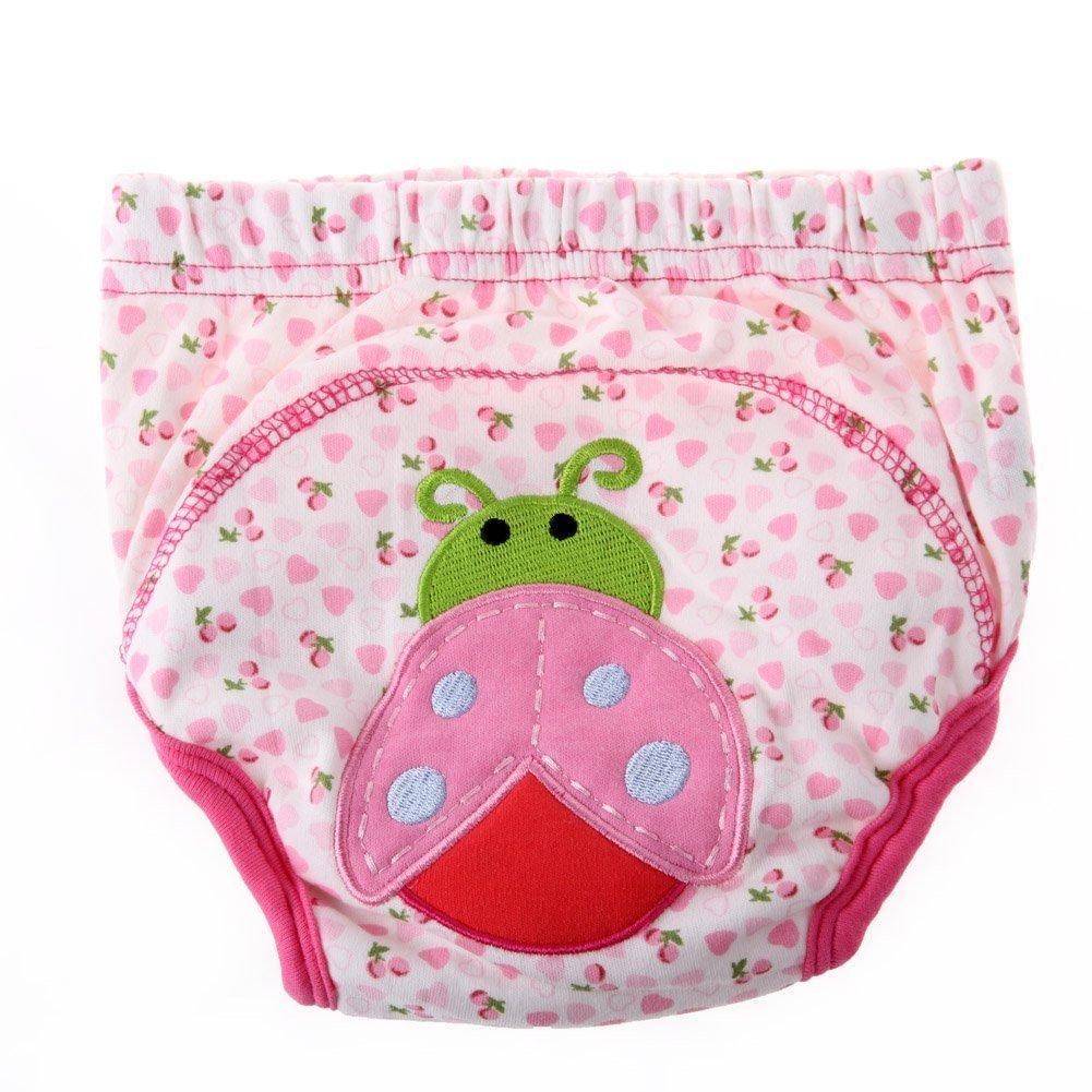 1Pc Baby Girl Boy Pee Potty Training Pants Washable Cloth Diaper Nappy Beetle 18-32 Months Karazan