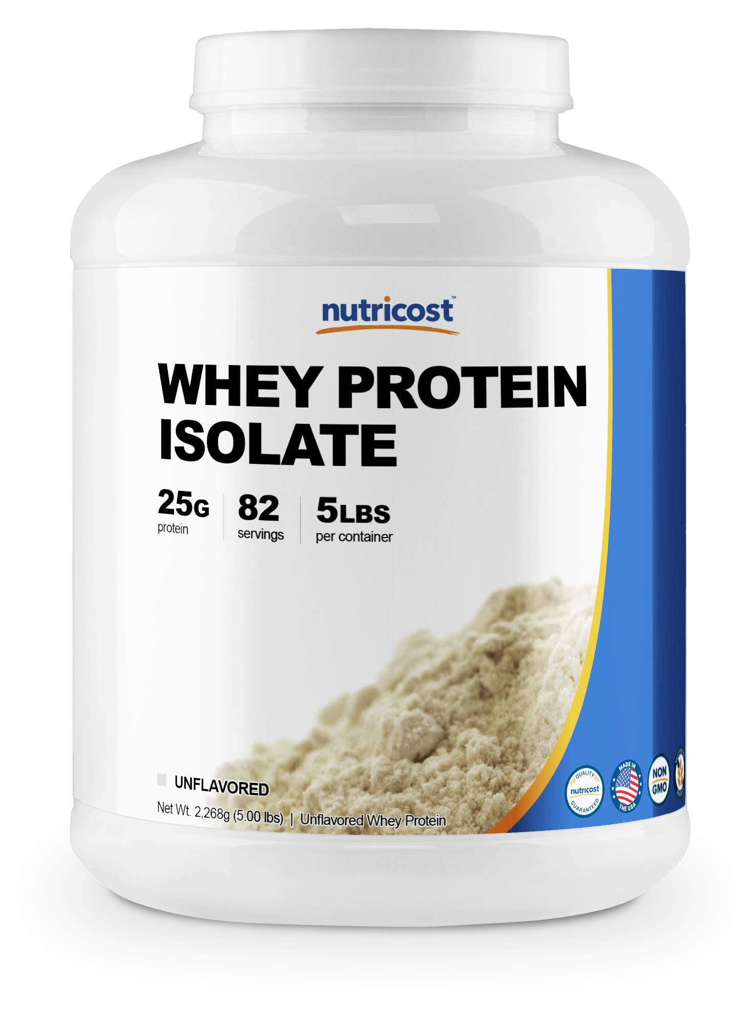 Nutricost Whey Protein Isolate (Unflavored) 5LBS by Nutricost