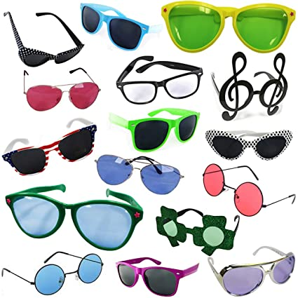 06d5c56f46c Image Unavailable. Image not available for. Color  Funny Party Hats Costume  Sunglasses - Party Sunglasses - 6 Pack Funny Shades
