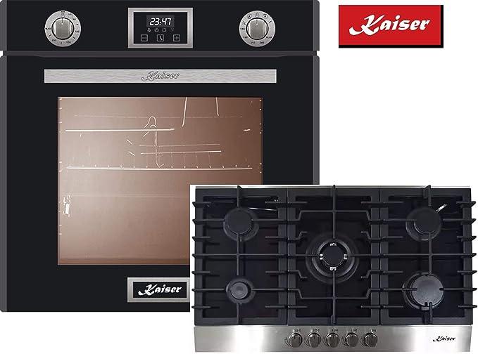 Lujo cocina de gas Juego Autark Kaiser EG 6375sp empotrable Gas ...