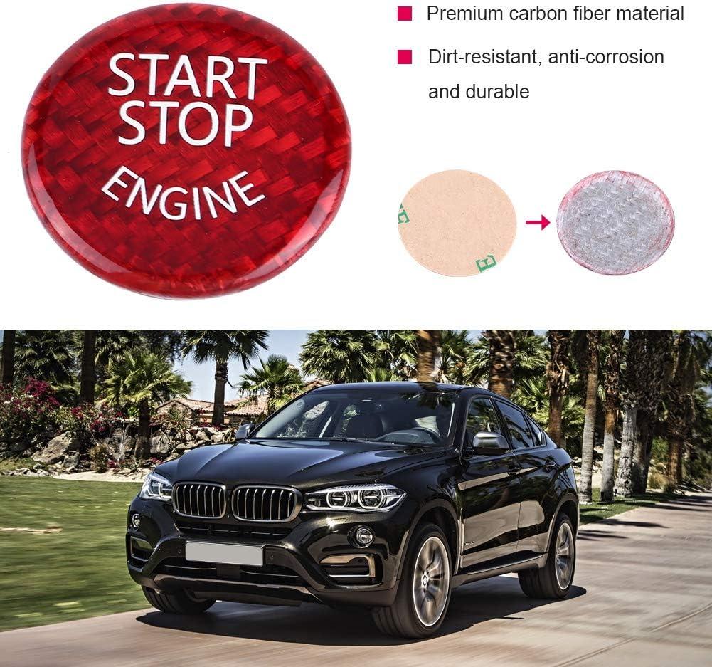 Keenso Taste f/ür Start-Stopp des Motors F20 F21 F22 F31 F31 F32 G30 F12 F13 F01 F02 X1 F48 X3 F25 Auto Start-Stopp-Taste rot