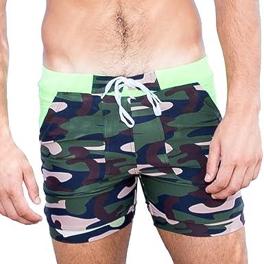 58e332201c Taddlee Camo Swimwear Swimsuits Men Swim Trunks Surf Shorts Pocket Quick  Drying (S)