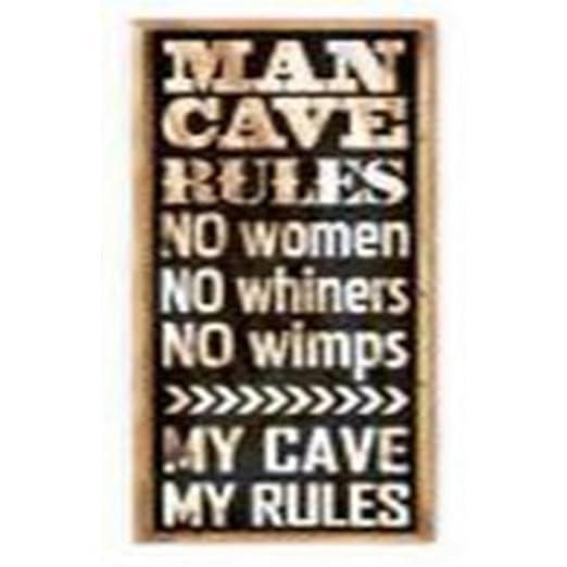 Heaven Sends Man Cave cartel, negro, 40 x 100 x 3cm: Amazon ...