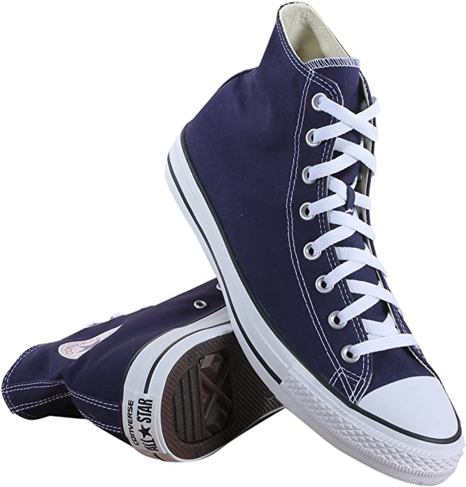 Converse Chucks (Chuck Taylor) All Star High Top Unisex Damen Herren Lila (Midnight Indigo)