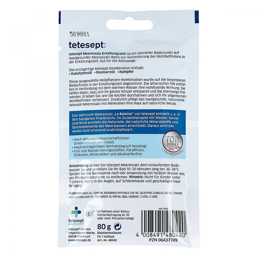 Tetesept Meeressalz Erkältungszeit 80 g: Amazon.de: Drogerie ...