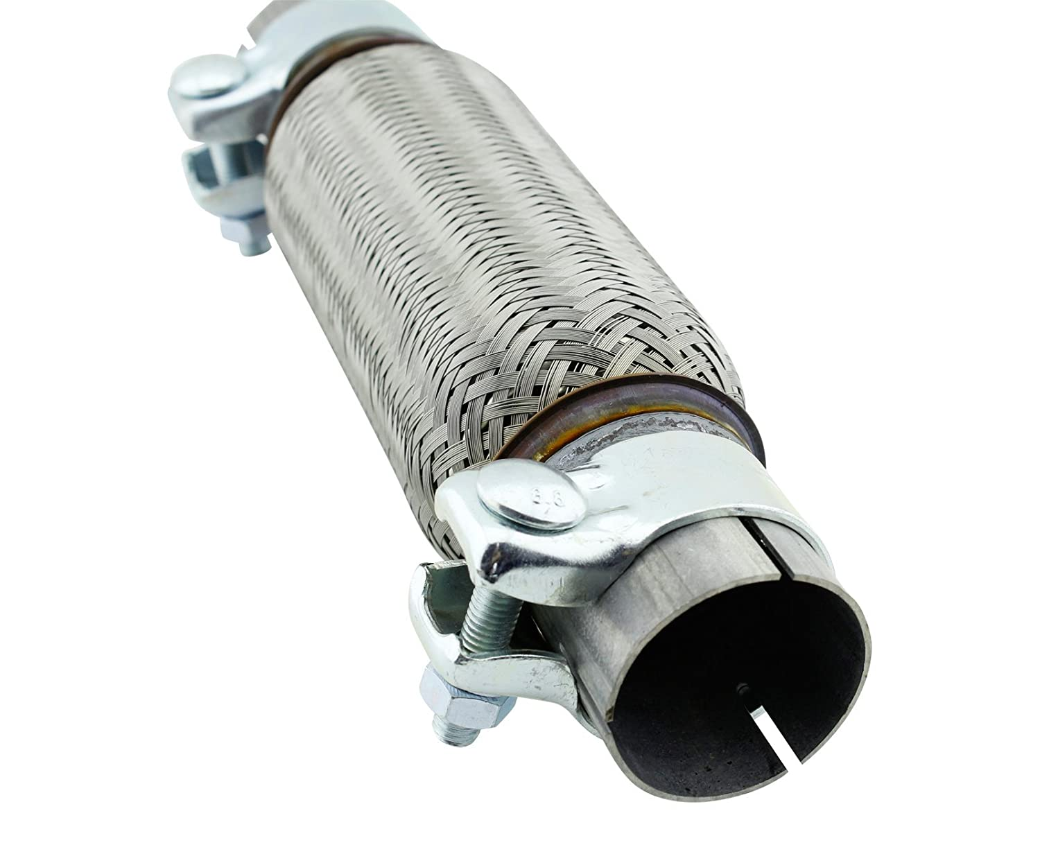 50/ x 200/ mm Universal Stainless Steel Flexible Hose Complete with fixing clamps