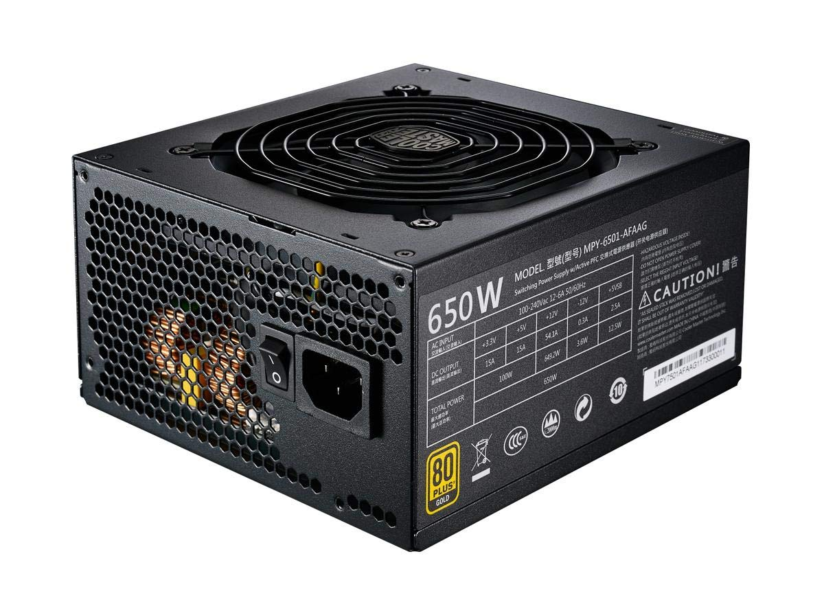 Cooler Master MPY-6501-AFAAG-US MWE 650 Gold Full Modular, 80+ Gold Certified 650W Power Supply, 5 Year Warranty by Cooler Master (Image #7)