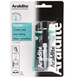 Araldite Clear Epoxy Adhesive | Fast Setting 2-Part Epoxy Glue | Solvent-Free Professional Grade Strength for Invisible Joins or Transparency | Clear Resin for Glass and Jewelry | Crystal, 2 x 15ml