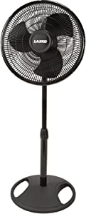 "Lasko 2521 16"" Oscillating Stand Fan, Black"