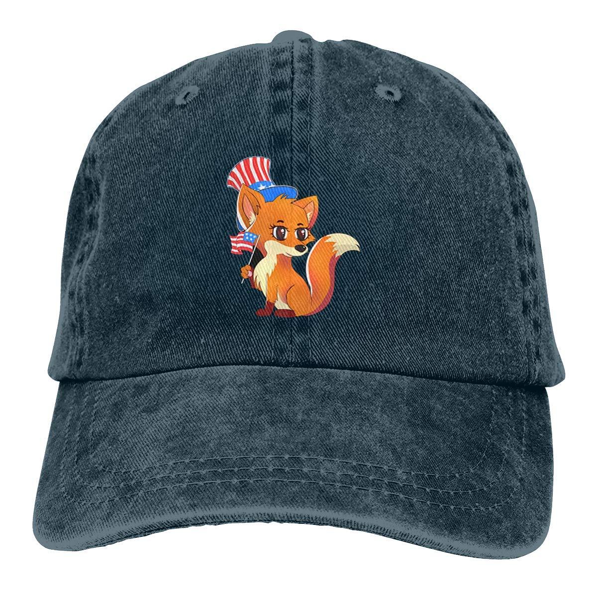 Patriot Fox con Bandera American Independence Denim Dad Hats Gorra ...