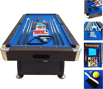 Mesa de billar juegos de billar pool 7 ft modelo BLUE SEA Medición de 188 X 96 cm carambola FULL Nuevo embalado disponible: Amazon.es: Deportes y aire libre