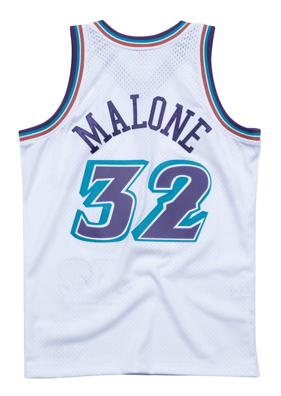 Mitchell & Ness Utah Jazz Karl Malone Camiseta de Manga Corta, Color Blanco, XL, Blanco: Amazon.es: Deportes y aire libre