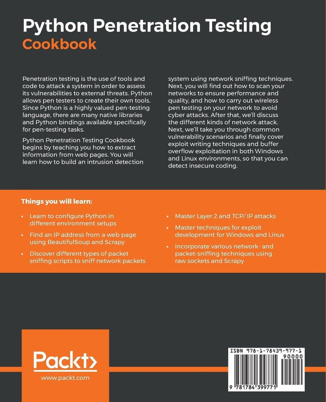 Python Penetration Testing Cookbook: Practical recipes on