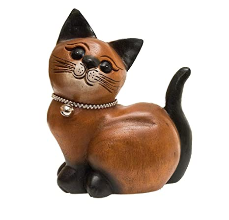 ROMBOL Gato, acurrucado, Derecho, Madera, Madera Escultura, Decorar, Decoración,