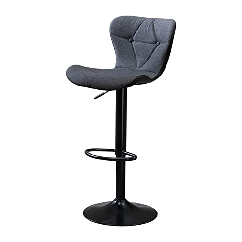 Adjustable Height Bar Stool Seat Modern Airlift Swivel Barstool Mid-Back Padded Chair for High Ergonomic Seating Heavy Duty Contemporary Metal Base Perfect for Countertop Dining