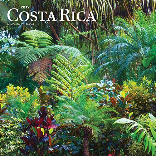 Costa Rica 2019 12 x 12 Inch Monthly Square Wall Calendar, Central America Caribbean Pacific Scenic Travel by BrownTrout Publishers