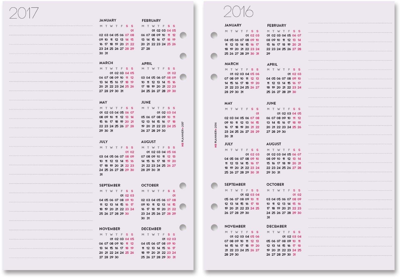 Filofax - Recambio de hojas para agenda (A5, Kikki. K grande ...