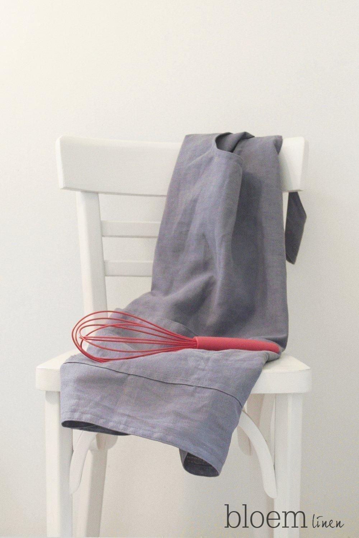 Linen apron, Pinafore, Cross back apron, Custom made, Eco friendly linen by Bloem Linen
