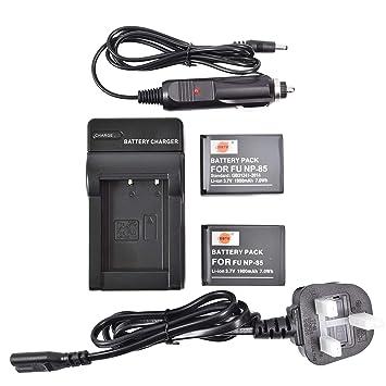 DSTE® UE Cargador DC122U + 2x NP-85 Li-ion Batería para ...