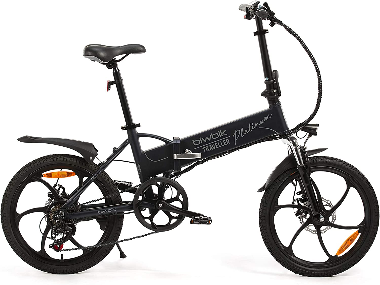 Bicicleta ELECTRICA Plegable Mod. Traveller (Platinum): Amazon.es: Deportes y aire libre