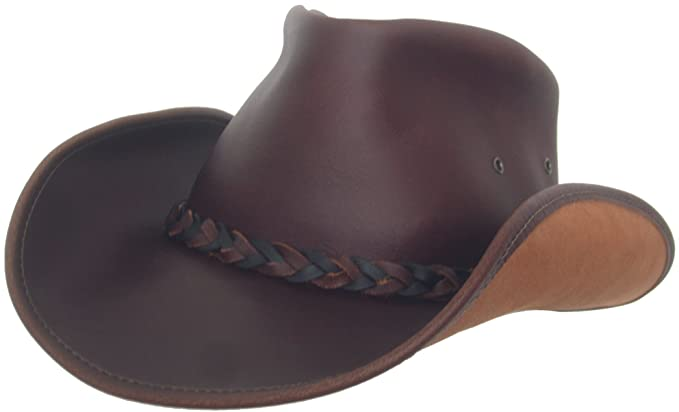 054594c32a0 Headchange Made in USA Leather Walker Outback Aussie River Hat at ...