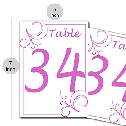 Paper Table Number Card for Restaurants Cafes Reserved Table Décor Wedding Gift