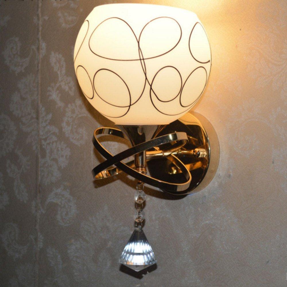 Wandlampen Wandlampe Bedside Wohnzimmer Schlafzimmer LED Gang Korridor Balkon Licht Einfach Und Warm Wandleuchte Wandbeleuchtung,Gold514SingleHead-16W