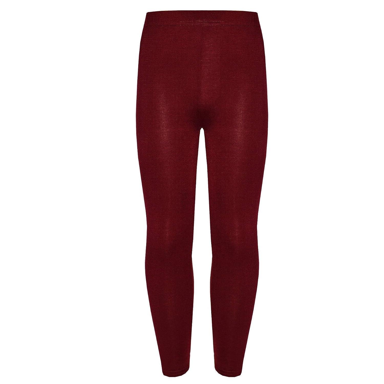 Girls Kids Children Plain Jersey Soft Elastic Waist Legging Pants Age 2-13 Years Momo&Ayat Fashions