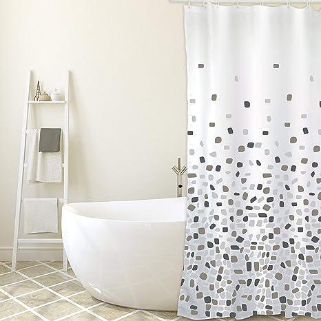 Cortina ba/ño Textil 100/% Poliester CUCOS NEST Cortina de ducha 180 x 200 cm Borneo Mod Impermeable Antibacterias Anti-Moho