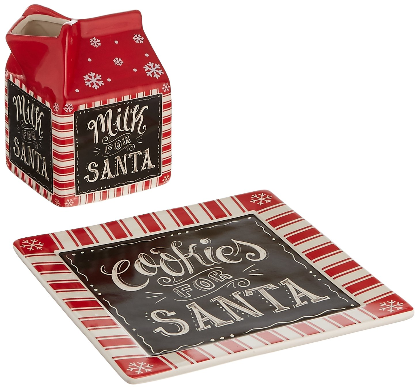 Burton and Burton Milk and Cookies for Santa Gift Set, Ceramic