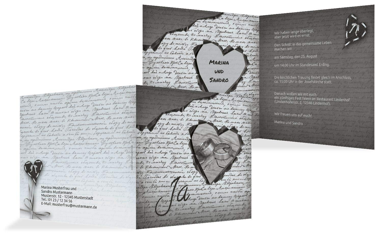 Hochzeit Einladung 2 Herzensgedicht, 10 Karten, TürkisGrauMatt B07HMSTRHM | Bequeme Berührung  | Niedriger Preis und gute Qualität  | Neuheit Spielzeug