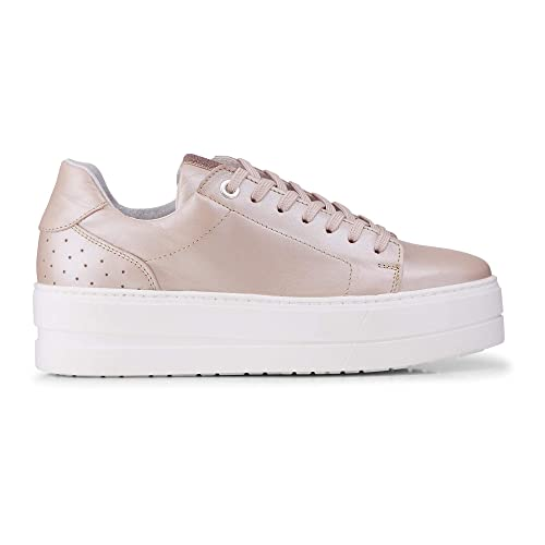 on sale 21d40 6f26b Cox Damen Plateau-Sneaker rosa Leder 40: Cox: Amazon.de ...