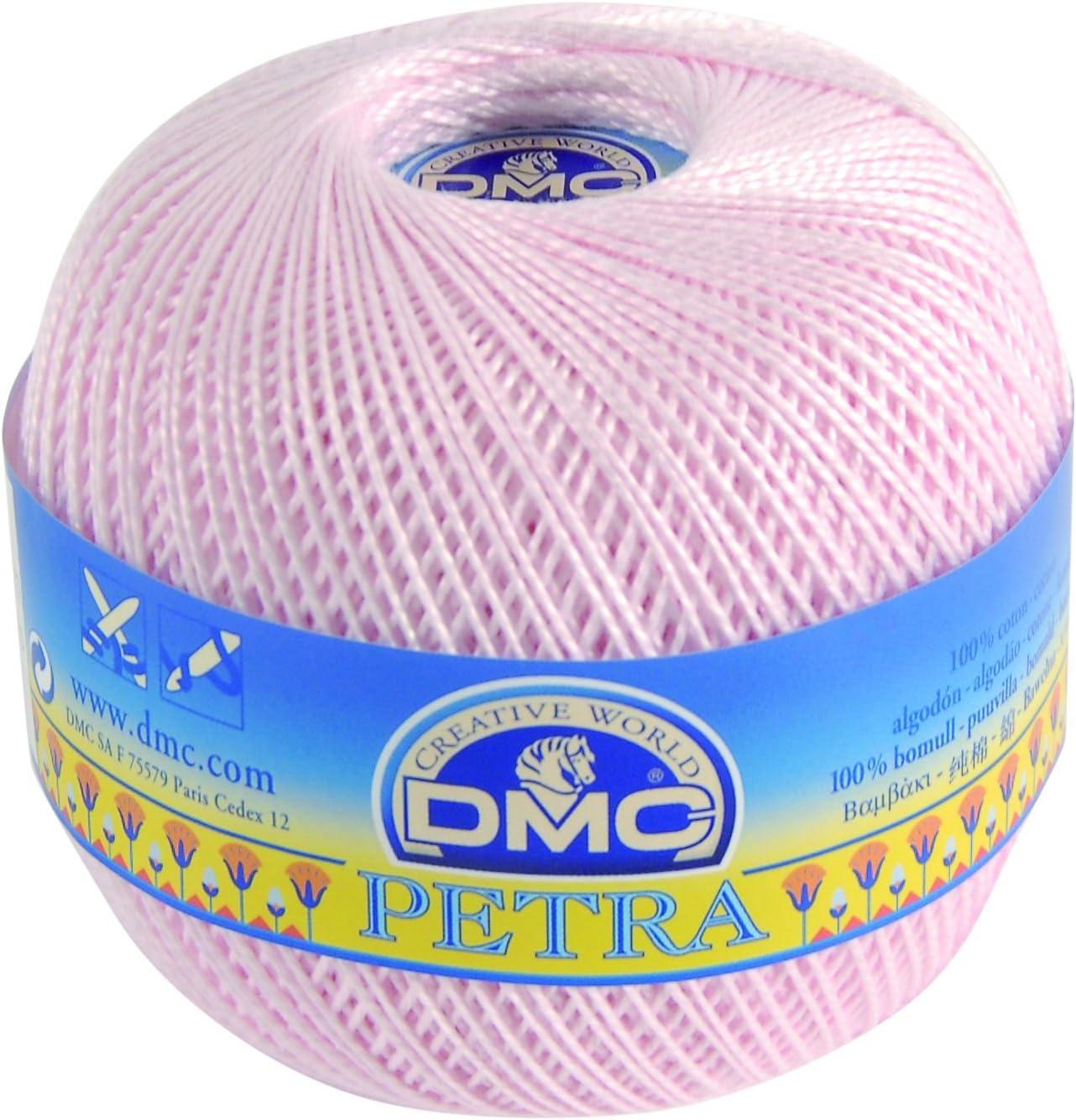 DMC Ovillo de Hilo de algodón 100%, Color Rosa, Talla Cinco, Modelo «Petra»: Amazon.es: Hogar