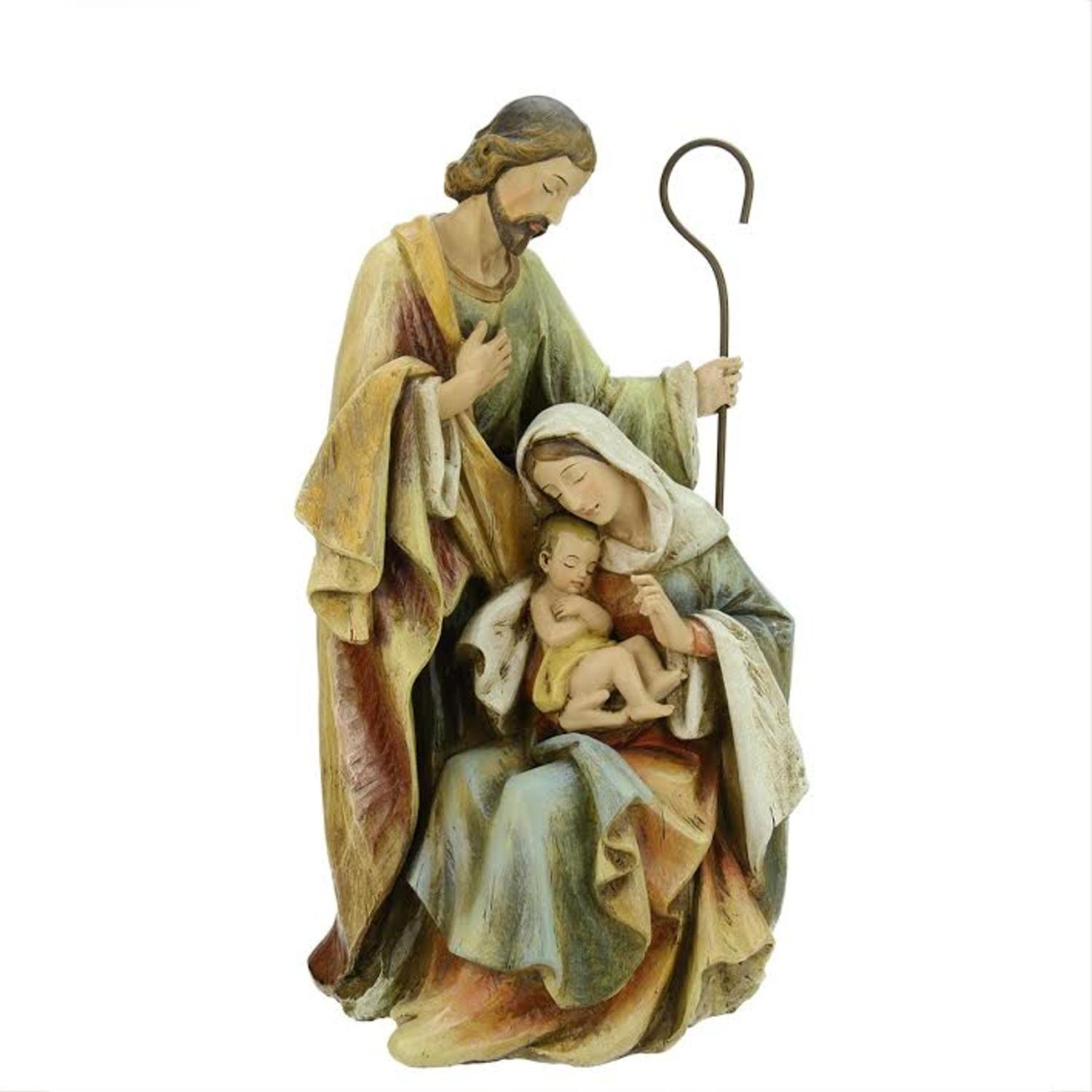 15'' Neutral Colors Religious Holy Family Christmas Nativity Figure