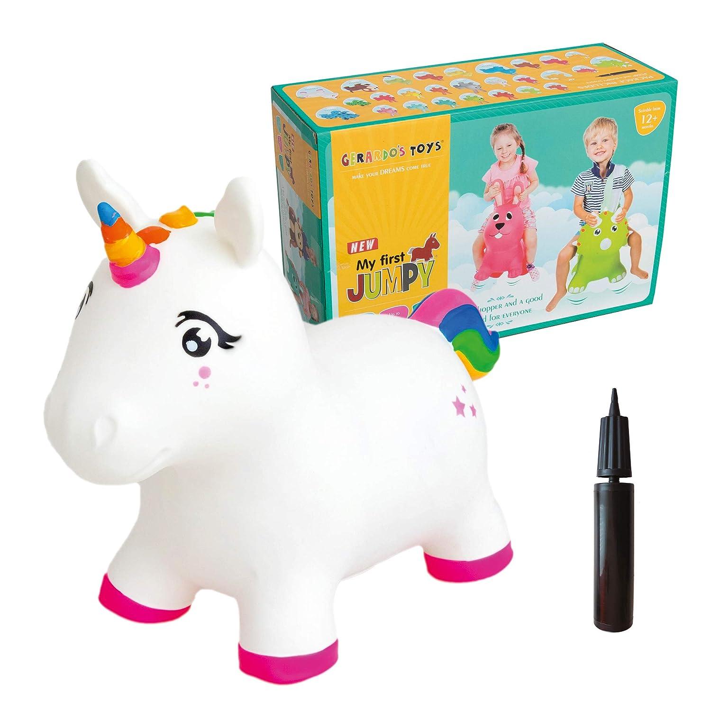 GERARDO`S Unicornio saltarín paseo con saltos en animal. Pelota ...