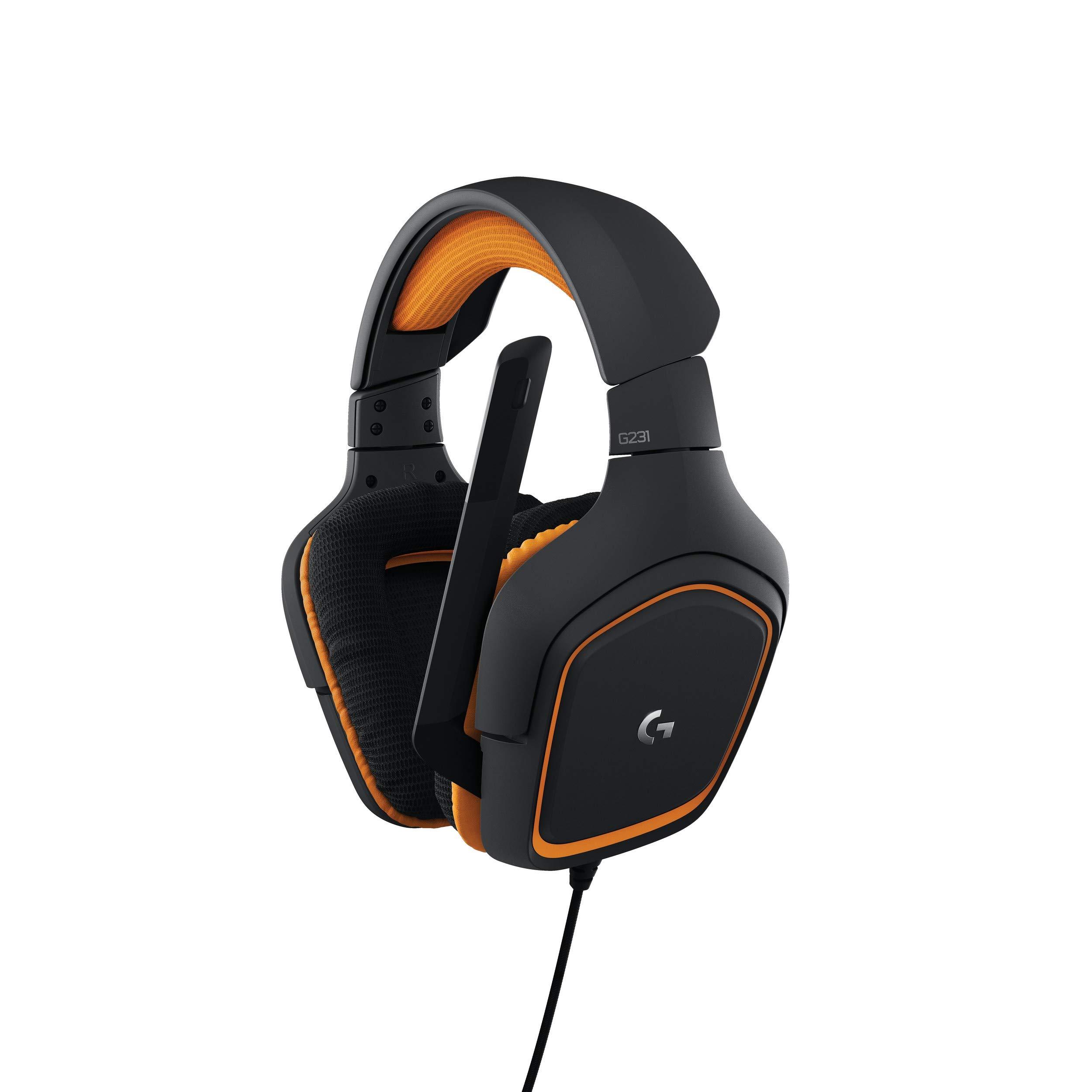 로지텍 G231 프로디지 게이밍 헤드셋 Logitech G231 Prodigy Gaming Headset – Game-Quality Stereo Sound – Playstion 4, Xbox One, Nintendo Switch Gaming System Compatible – Folding, Unidirectional Mic – Lay-Flat Earpiece