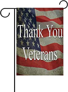 ALAZA Veterans Day Garden Flag Vertical Double Sided Print Spring Summer Happy Memorial Day Independence Day Yard Decorative 12 x 18 Inch