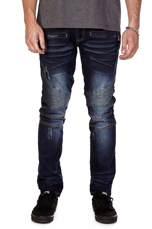 443e673114 XRAY JEANS XRAY Men's Davis Jeans Zipper Moto at Amazon Men's Clothing  store: