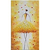 MAOYYM1 Fiore Gonna Astratta Donna Dipinto A Mano Pittura A Olio della Decorazione della Casa Pittura Soggiorno Sala da Pranzo Studio Corridoio Appeso Pittura Murale (Frameless)